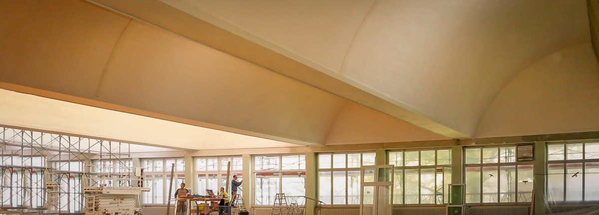 Our acoustic system provides excellent sound absorption values from as little as 15 millimetres.
